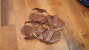 Brown Faux Leather Sandals (Sz 8)