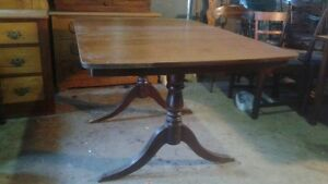Mahogany Duncan Phyfe Double Pedestal Table