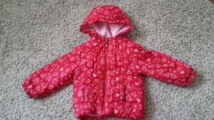 girl winter jacket 2 T from walmart