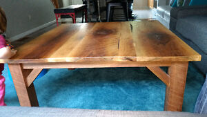 Large Square Reclaimed wood coffee table