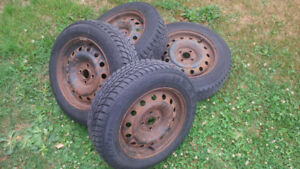 15 inch Winter Tires and Rims (4 X 100 Bolt pattern)