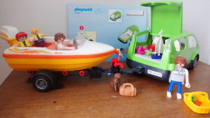 Playmobil Family Van with boat and trailer (4144) for sale