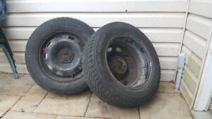 Two Used Winter Tires - Goodyear Ultragrip Ice