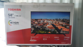 TV 58INCH BRAND NEW SMART 4K ULTRA HD HDR