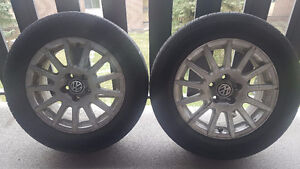 VW 15' Set of 4 tires and rims