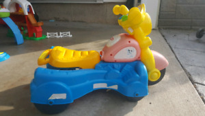 toy bike and ride along