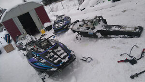 4 polaris xlt 600 sleds parting out