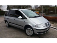2008 58 VOLKSWAGEN SHARAN 2.0TDI S.RECENT TIMINGBELTKIT,WATERPUMP.GREAT 7 SEATER