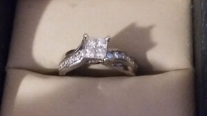 Engagement ring and ring