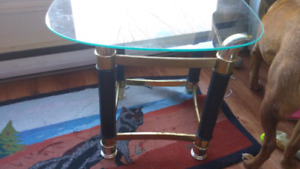 Love seat and glasstop end table. 65obo for both