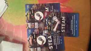 Steam cards for 70$ only rush!! Edmonton Edmonton Area image 1