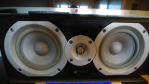 """2 speakers Infinity Primus P252BK Dual 5-1/4"""" & 1 Center Channel"""