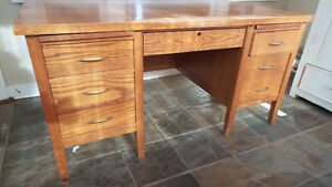 Solid Oak Teachers Desk 1963 Rare XL Model 60F Biltrite