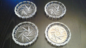 Crystal Coasters set of 4 (price reduced)
