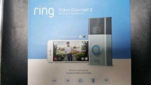 Brand new sealed Ring Video Doorbell 2 Video Wi-Fi 150$ !!
