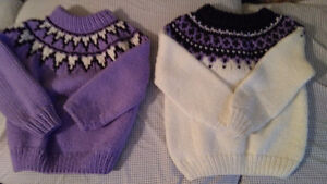 Hand Knit Wool/Acrylic Sweaters Size 6 London Ontario image 2