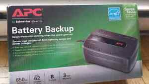 NEW APC Canada BE650G1 Back-UPS 650VA 8 Outlet 2 available