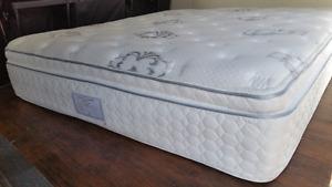 Luxury King size mattress europillowtop+box spring, extra thick,