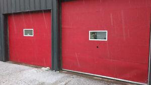 Garage doors and rails