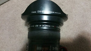 REDUCED - Canon EF 24-105mm f/4L IS USM. UV Filter, and Hood