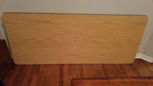 Like New - Heavy Duty Steel Table with Faux Wood Finish