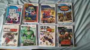 Wii games all in good condition.