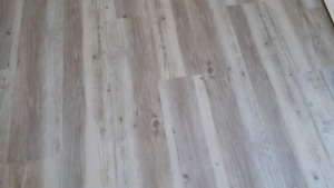 Vinyl flooring planks Gray beige ,waterproof low cost +Stairs