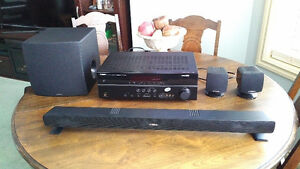 YAMAHA SURROUND SYSTEM, AMPLI FIER, SOUND BAR,  SUB and SPEAKERS