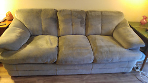 Couch & matching chair, recliner, ottoman, dining table/chairs