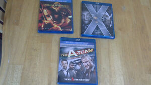 blue ray & digital copy Hunger Games, XMen 1st class & The ATeam