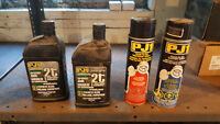 2-Stroke oil and foam air filter cleaner and oil.
