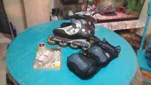 Rollerblades and Accessorries - Women's size 9