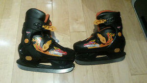Adjustable ice skates - Size 12J - 2 Gently Used