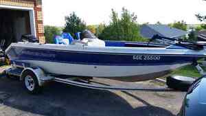 1997 Prince craft with 115 evenrude with trailer  Peterborough Peterborough Area image 1