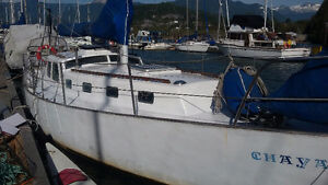 36 foot cutter rigged sailboat