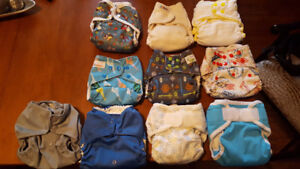 10 One Size Cloth Diapers