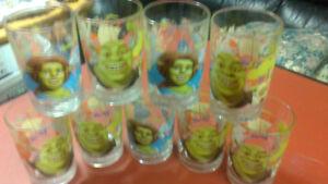 9 Collectible Shrek Glasses