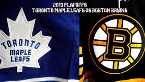 Toronto Maple Leafs -vs- Boston Bruins Tickets!  Center Ice!