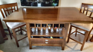 Dining Table With Wine Rack & storage