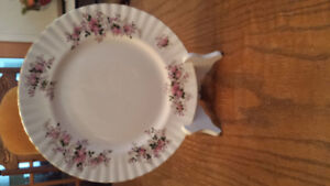 Royal Alexander Lavender Rose Bone China Dinner Plate