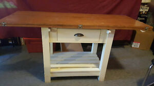 Space Saver Farm style Oak Veneer Dining Table
