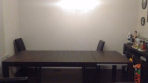 Kitchen or Dining room Table & Four Chairs
