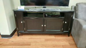 Carlyle T.V stand by Ashley Furniture, $135+ applicable taxes