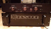 Bryston 3b stereo power amplifier and preamp