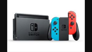 Nintendo switch à vendre avec deux jeux!!!