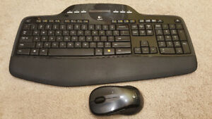 Logitech Bluetooth Cordless Keyboard and Mouse.