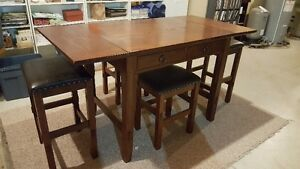 Ashley High Table with stools