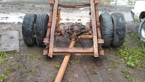 1984 1ton Chev rear diff. Leafs and frame