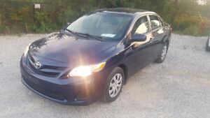 2013 TOYOTA COROLLA! SAVE! RUNS GREAT! 44,500KMS! WE PAY HST!