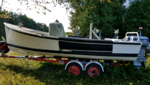 19'Rosborough Workboat twin 50 HP Evinrude
